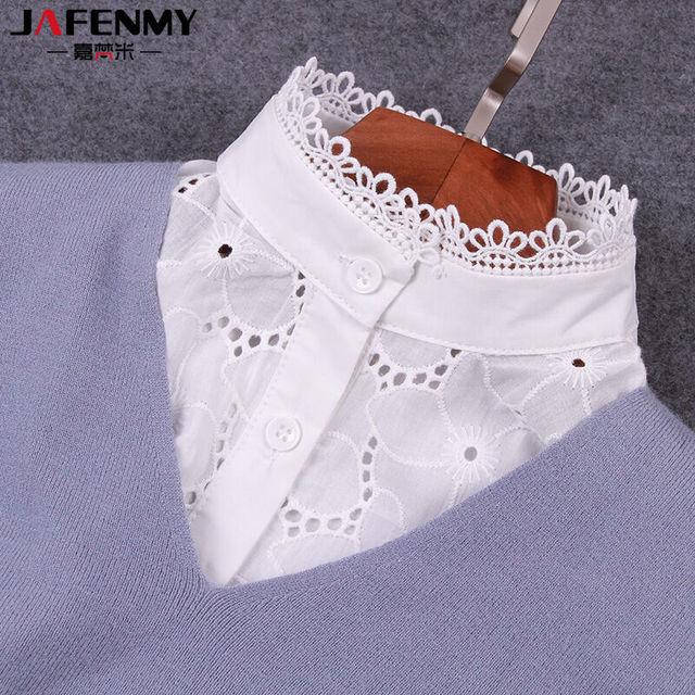 eb0488de81b03 New Fashion Fake Collar White Lace Stand-up Collar Detachable Collar False  Collar Lapel Blouse Women Clothes Accessories