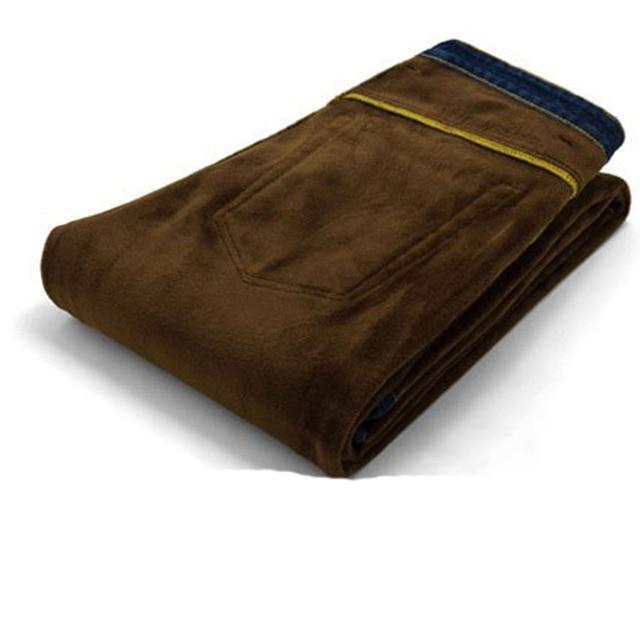 2019 New Men Activities Warm Jeans High Quality Famous Brand Autumn Winter Jeans warm flocking warm soft men jeans 2
