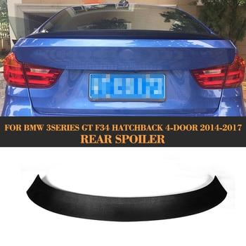 Carbon Fiber Car Rear Boot Lip Wing Spoiler for BMW 3 series GT F34 Hatchback 4 Door 14 17 328i 330i 335i 340i GT|for bmw|carbon fiber|lip spoiler -