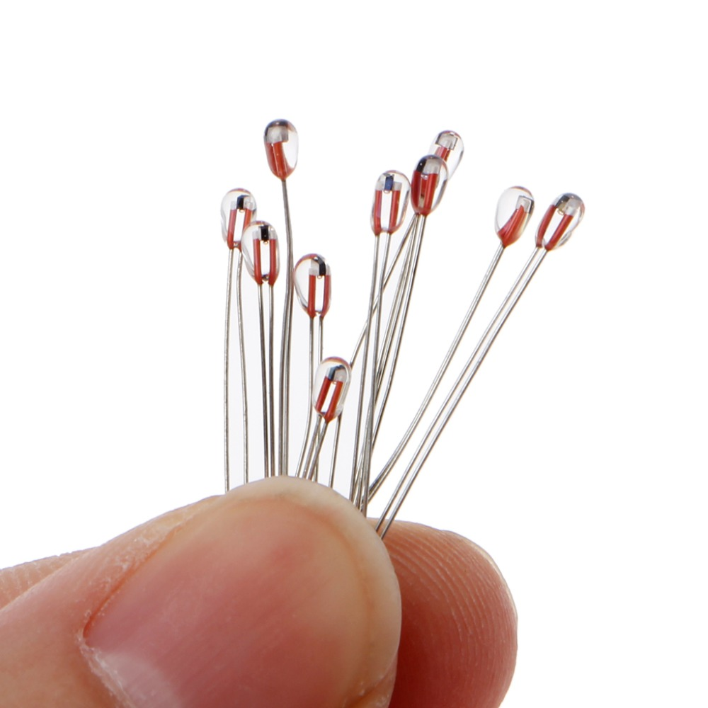 10pcs 3D Printer 100K ohm NTC 3950 1% Thermistors 1.8mm Temperature Sensor
