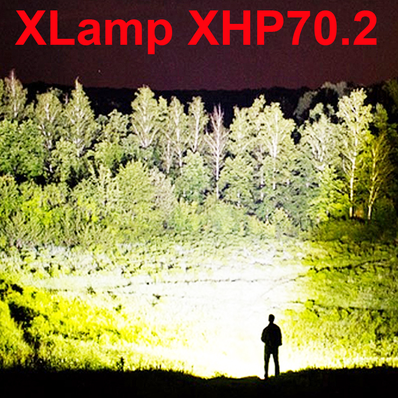 50000 lumens XLamp xhp70.2 most powerful flashlight usb Zoom led torch xhp70 xhp50 18650 or 26650 Rechargeable battery hunting scuba dive light