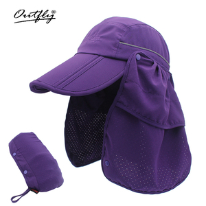 Image 3 - Brand wide brim Summer sun Breathable UV Protection Visors bucket hat Sunscreen fisherman fishing cap Detachable Foldable cap