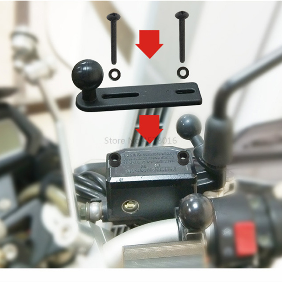 Motorcycle Handlebar Pump Mount (4)