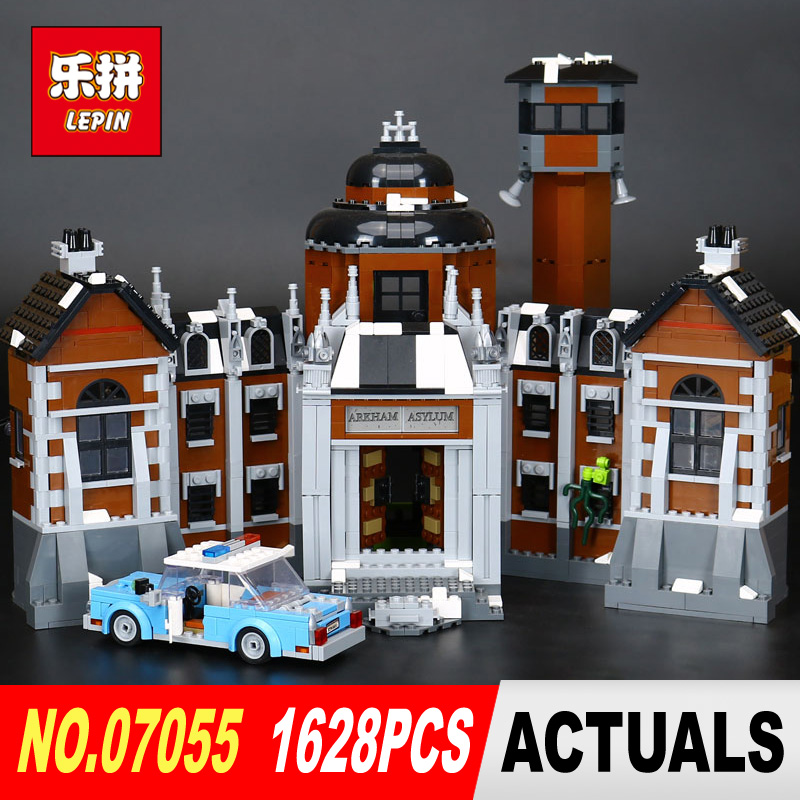 New Lepin 07055 1628Pcs Genuine Series Batman Movie Arkham Asylum Building Blocks Bricks Toys with 70912 gift