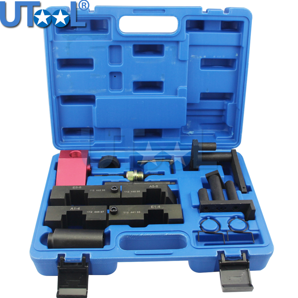 11 PCS Camshaft Locking Tool For BMW M60 M62 M62TU V8 Engine Timing Tool Kit engine camshaft locking setting timing tool kit for land rover jaguar 3 2 3 5 4 0 4 2 4 4 v8 st0232