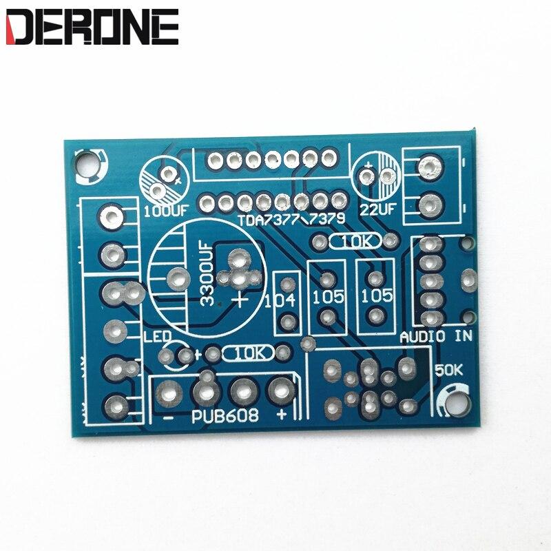 1 Piece Power Amplifier PCB  TDA7379 TDA7377 38W+38W DC9-18V  Or AC 8-14V For Audiophile Diy