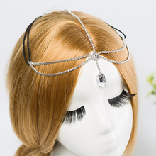 Women Fashion Metal Rhinestone Head Chain Jewelry Headband Head Piece Hair band Y1265