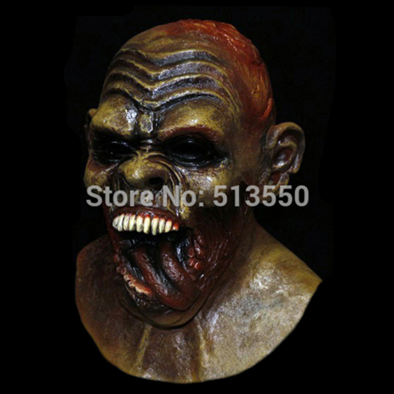 Hot sale Deluxe Halloween Costoms Horror Masks Latex Monster Mask in Party Masks from Home Garden