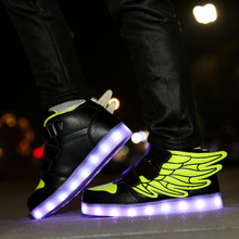 2019 NEW Eur Size 25-33 Kids Luminous Sneakers Glowing for Boys&girls Children Light Shoes LED