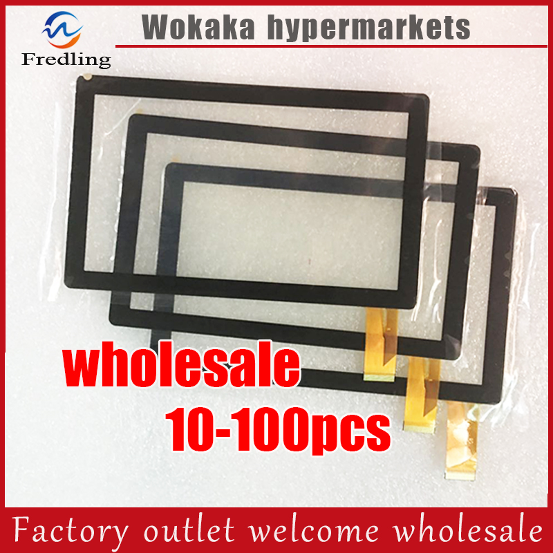 "10-100pcs 7"" Capacitive Touch screen digitizer panel for All winner A13 Q88 GPD Q9 Tablet PC 30pins on connector CZY6075E-FPC"