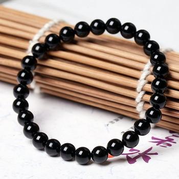 Fashion AAA Agates Bracelet Women Men Jewelry 4/6/8/12/14/16mm Black Onyx Bead Yoga Bracelets & Bangle Pulseira Masculin 3