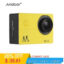 """Andoer Action Sports Camera 4K 30fps 16MP WiFi 1080P 60fps Full HD 4X Digital Zoom Diving 40m 170 Wide Angle Lens 2"""" LCD"""