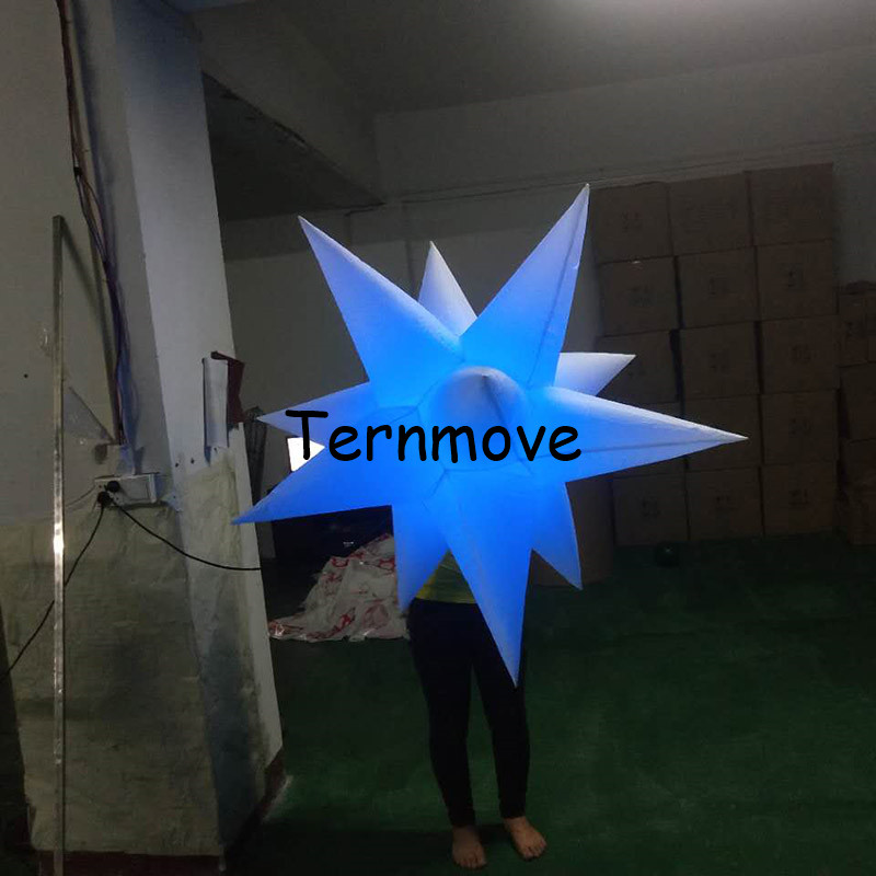 Inflatable Party Decoration colorful attractive inflatable led inflatables stars Stage Bar Party decoration led light free shipping led light up inflatable heart shpe light inflatable lighting 2 4m for valentine s day wedding toy decoration
