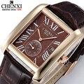 5 Colores Pequeño Dial Puede Trabajar de Manera de Los Hombres Clásicos Relojes de Cuarzo Reloj Del Cuadrado Del Estilo Retro Con Calendario Relojes de pulsera de Los Hombres reloj