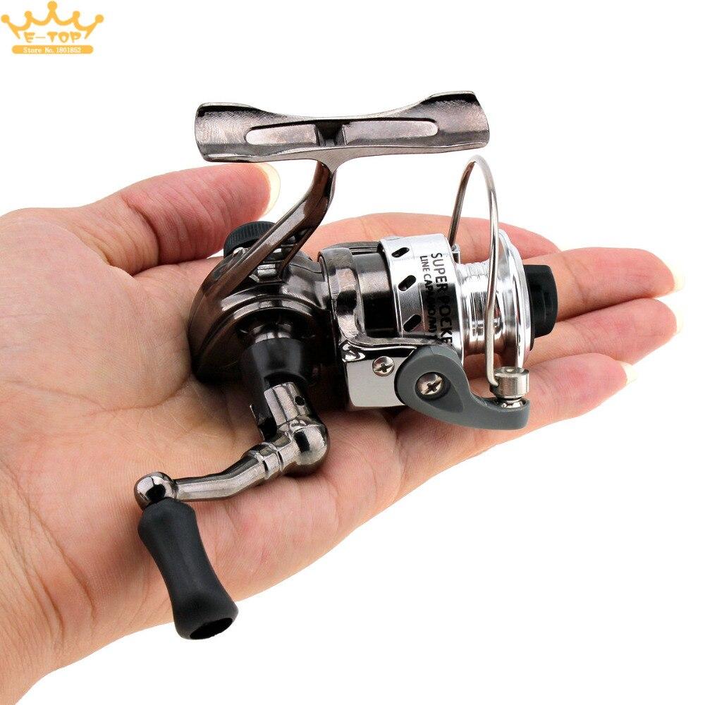 Mini fishing reel palm size metal coil poket small for Mini fishing reel