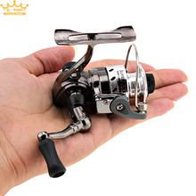 Mini Fishing Reel Palm Size Metal Coil Poket Small Spinning Reel for Ice Fish Pen Fishing Rod