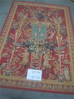 2014 Gobelin Picture Tapestry Wall Hanging Pure Wool Handmade French Gobelins Weave Tapestry 143cmx201cm 4.7'x 6.6' Gc19tap36