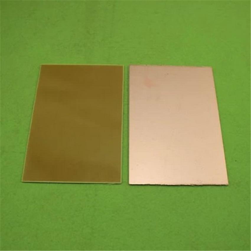 2 шт. односторонний плакированный ламинат 10 см * 20 см стекловолокна печатной платы с одной стороны пластины толщина 1.6 мм (F5B1)