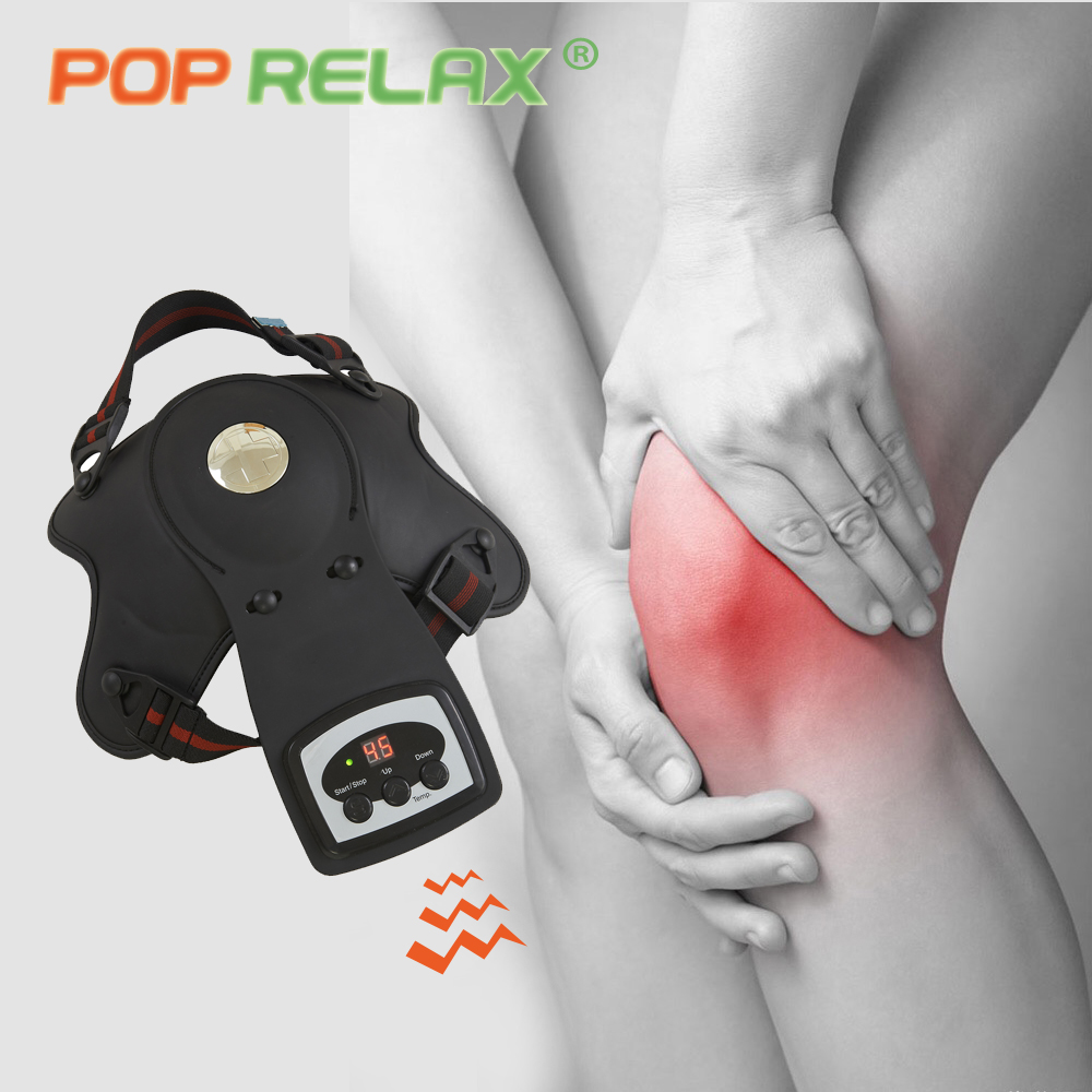 POP RELAX electric knee massager heating vibrator electronic physiotherapy body massager knee pain relief massage device pad pop relax electric vibrator jade massager light heating therapy natural jade stone body relax handheld massage device massager