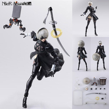 18cm promotion price Game anime figure NieR Automata YoRHa No. 2 Type B 2B figma movable Cartoon PVC Action Figure Model Toy