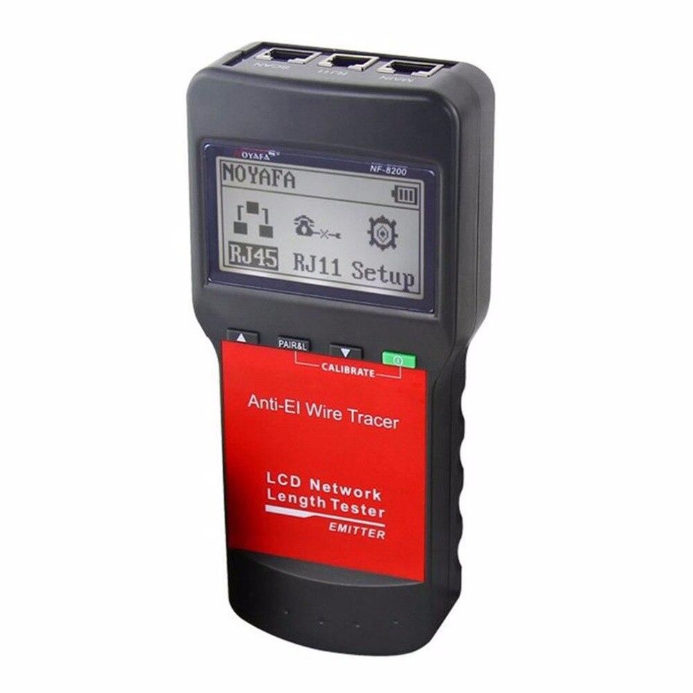 Noyafa NF-8200 LAN RJ45 testeur de câble réseau Ethernet traqueur de câble testeur de longueur de câble avec rétroéclairage LCD - 2