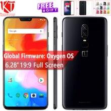 Оригинальный Oneplus 6 мобильный телефон 6,28 »6 ГБ оперативная память 64 Встроенная Snapdragon 845 Android 8,1 двойной сзади Camrea 20 + 16 Мп NFC Глобал