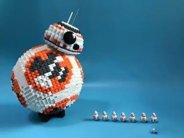 2069PCS Star and UCS Wars The BB-8 Model Building Bricks Set Astromech Droid Compatible Lepins Figures Toys