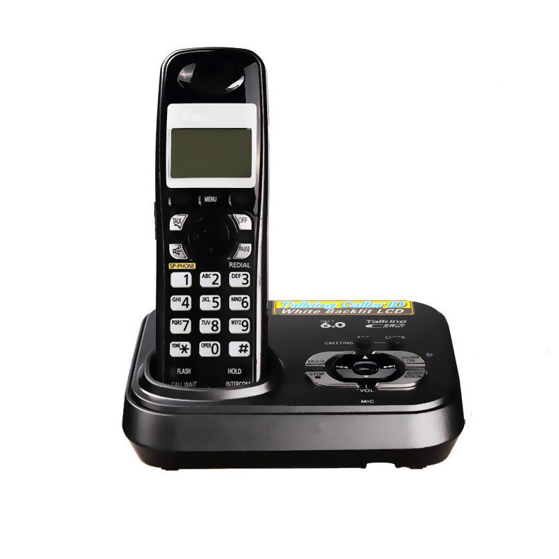 English Digital Cordless Phone With Answer Systerm Call ID Home Wireless Base Station Cordless Fixed Telephone For Office Home adidas adidas supernova 5 shorts