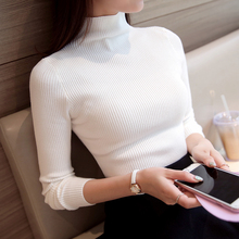 2017 hot sale Korean Autumn Winter Knitted Sweaters for Woman Pull  Femme Slim Comfortable Turtleneck Long Sleeve dress
