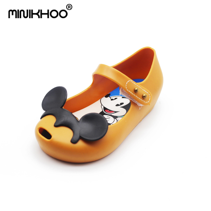 Mini Melissa Mickey Minnie Girl Jelly Sandals Cute Princess Sandals Breathable Baby Sand ...