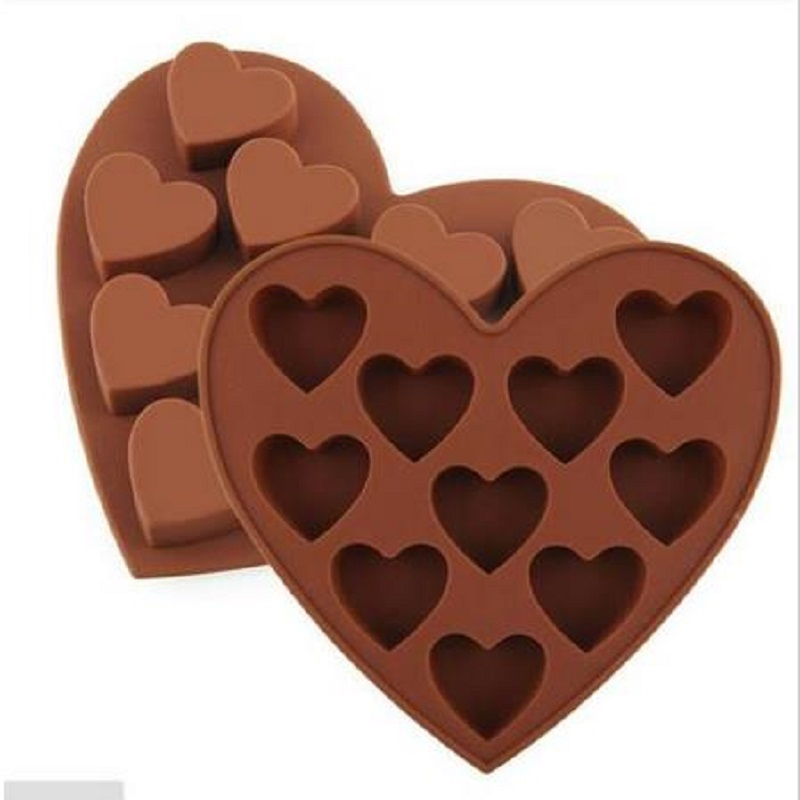 Cutter Fondant Adorable Heart Shaped Silicone Mold Cookie Cooking ICE Cube Decorating Tools