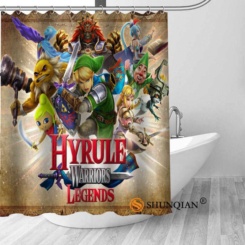 New The Legend Of Zelda Shower Curtain Bathroom Decorations For Home Waterproof Fabric Bath A1813