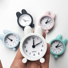 Clock Small Bed Compact Creative Cute Mini Metal Small Alarm Clock Electronic Small Alarm Clock Kids Lovely Toy MAR13(China)