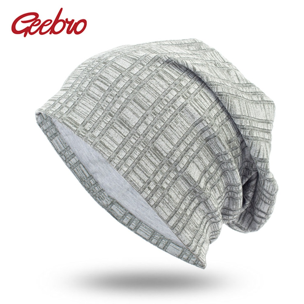 Geebro Women's Plain Color Plaid   Beanie   Hat Spring Casual Knitted Hats For Female Women's Hat Cap   Skullies     Beanie   Hats DQ406B