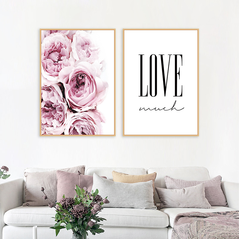 Pink Flower Artwork Portray Scandinavian Wall Artwork Canvas Posters Nordic Prints Ornamental Image Trendy Dwelling Bed room Ornament Portray & Calligraphy, Low cost Portray & Calligraphy, Pink Flower Artwork...