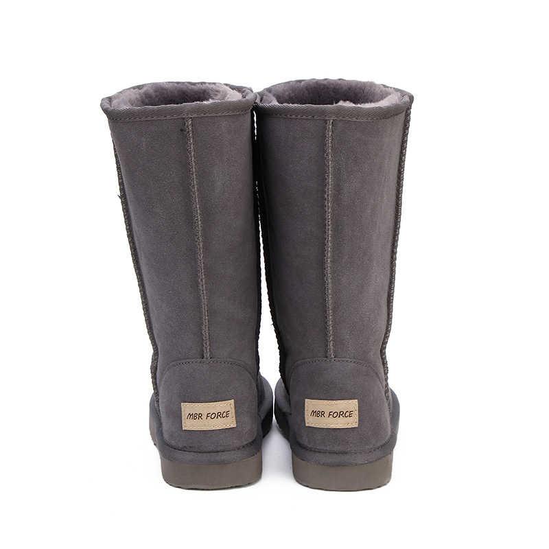 MBR kuvvet avustralya klasik bayan ayakkabıları yüksek kalite su geçirmez hakiki deri kar botları kürk kışlık botlar sıcak kadın botları
