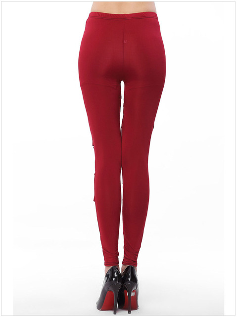 Women's Leggings with Transparent Insets