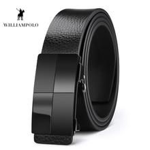 Williampolo 2019 Men Belt Genuine Leather Automatic Buckle Luxury Brand Belts Origianl Natural Cowskin PL18435-37P