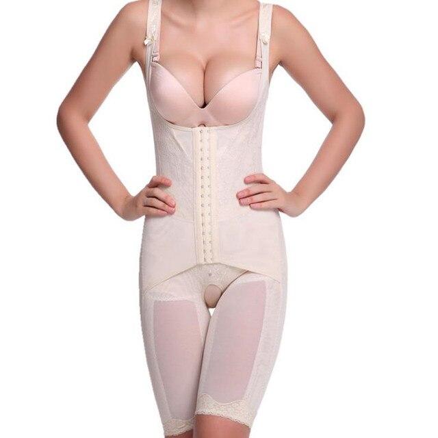 M- 4XL 5XL Strengthen Body Shaper Bamboo Waist  Corsets Sliming Underwear Bodysuit Women Girdles Shapewear Plus size XXXXXL