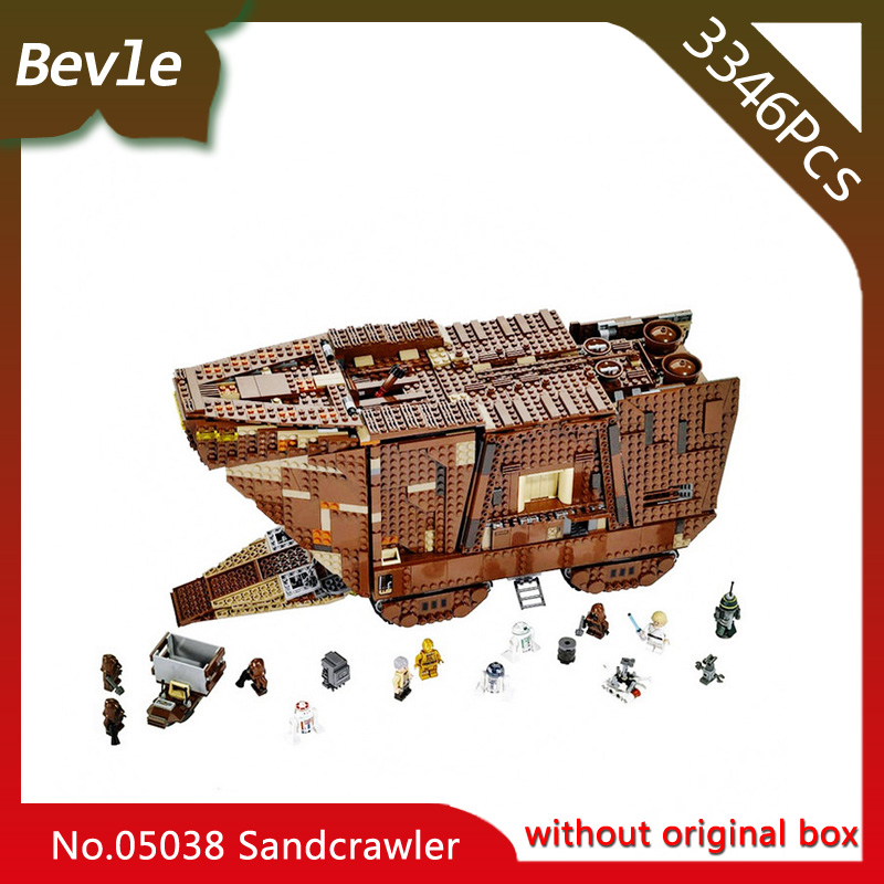 Doinbby Store 05038 3346Pcs star space Force Awakens Sandcrawler Model Building Blocks set Bricks For Children Toys 75059
