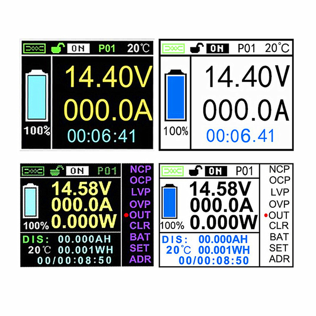 DC 120V 100A 200A 300A Wireless ammeter Voltage KWh Watt Meter Car Battery coulometer Capacity tester Power monitoring