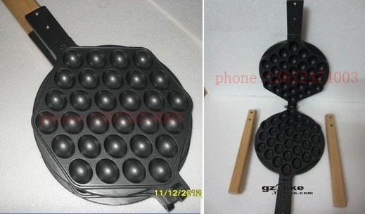 Free shipping Commercial Use Non-stick Egg Waffle Pan Waffle Iron Grill