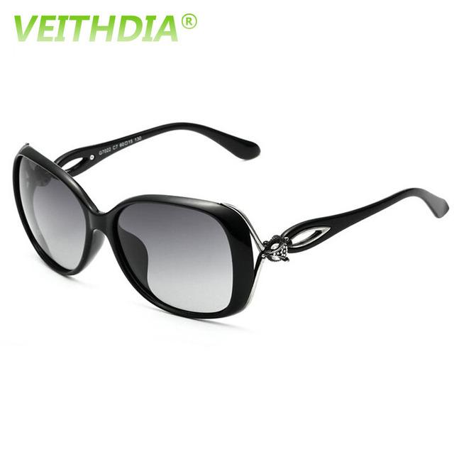 VEITHDIA Ретро TR90 Вождения Вс GlassesLuxury Дамы Дизайнер Очки óculos de sol женщина для 7022 Поляризованных Солнцезащитных Очков Для Женщин