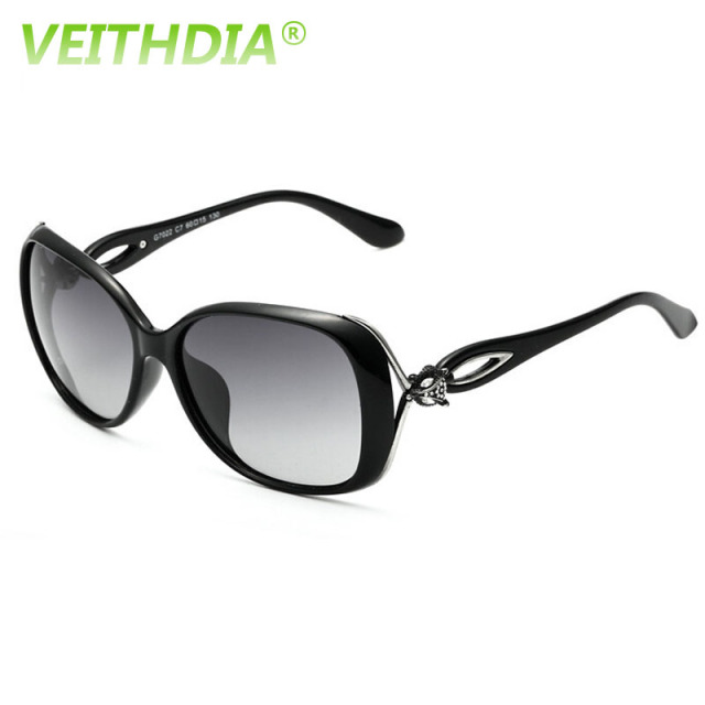 VEITHDIA Retro TR90 Driving Sun GlassesLuxury Ladies Designer Eyewear oculos de sol Feminino 7022 Polarized Sunglasses For Women