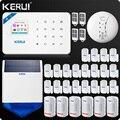 KERUI W18 WI-FI GSM SMS Главная охранной Системы Шторы движения Сенсор Беспроводной Солнечной Сирена внутренняя камера IP