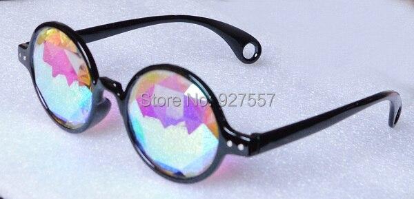 5dbb0b9e43366 Black frame óculos com lente de vidro prisma caleidoscópio em Óculos ...