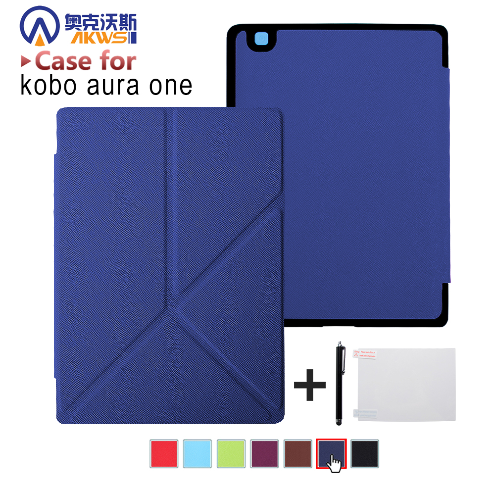 Standing cover case for  Kobo Aura One 7.8 inch ebook reader magnetic auto wake sleep + Screen Protector + Stylus pen as giftsStanding cover case for  Kobo Aura One 7.8 inch ebook reader magnetic auto wake sleep + Screen Protector + Stylus pen as gifts