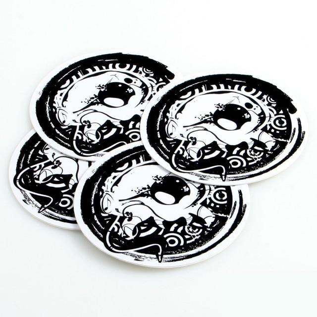 Custom screen printing cute cartoon stickers uv resistant glossy lamination metallized beer labels