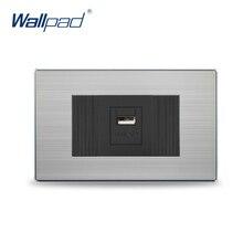 2017 Горячие Продажи в Китае Производитель Wallpad Кнопка Роскошные Настенный Светильник Выключатель Розетка Гнездо USB Зарядное Устройство