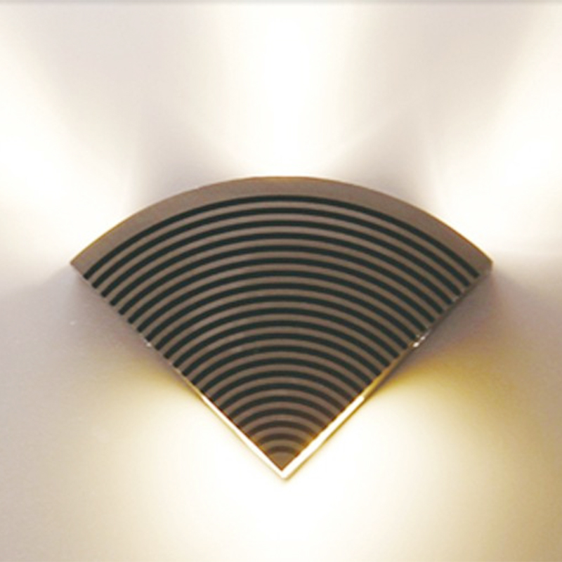 Modern 4W LED Sector Wall Sconce AC85-265V Wall-Mounted Luminous Lighting Fixtures for H ...
